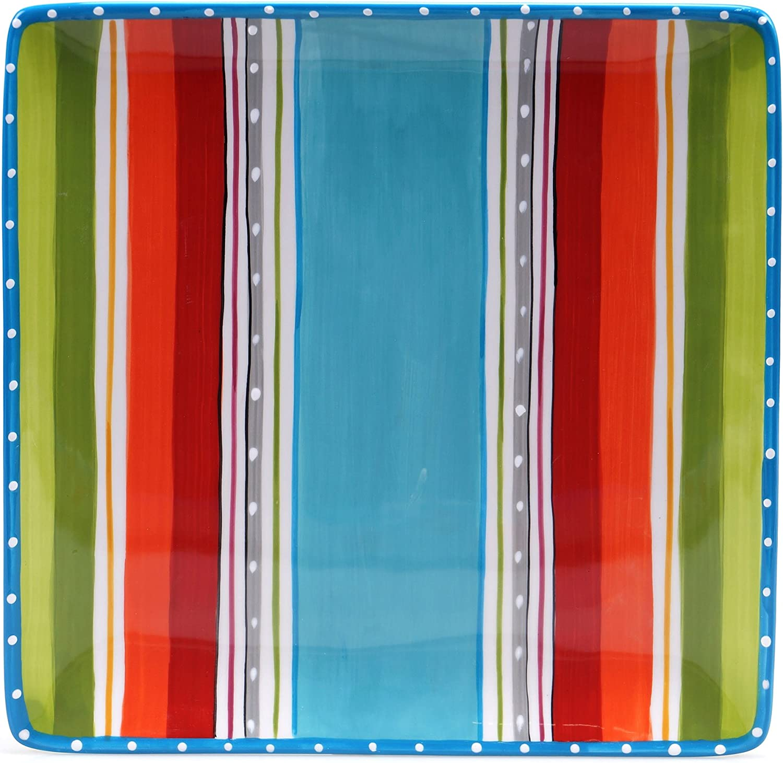 "Certified International Mariachi Square Platter, 12.5"", Multicolor"