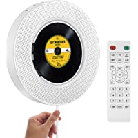 2021 Upgraded Portable CD Player with Bluetooth, FM Radio, Wall Mountable CD Music Player with IR Remote Control, Built…