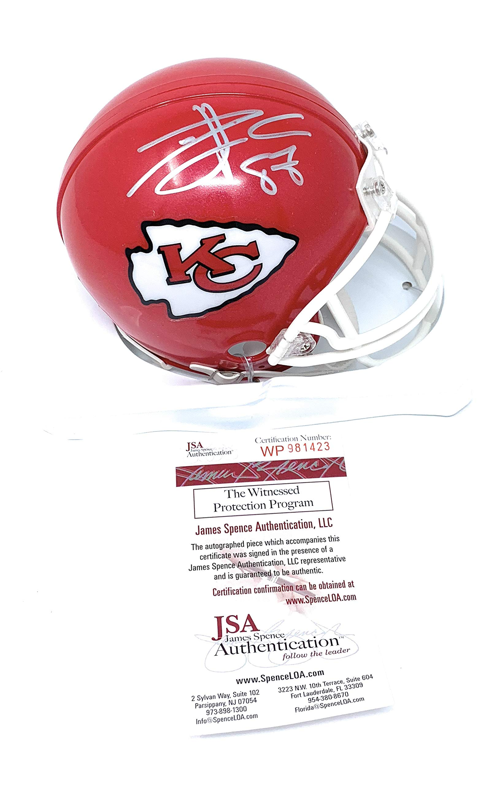 Travis Kelce Kansas City Chiefs Signed Autograph Mini Helmet JSA Certified