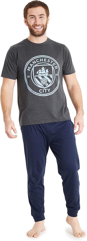 Manchester City Pijama Hombre, Pijamas Hombre de Futbol Talla M-3XL