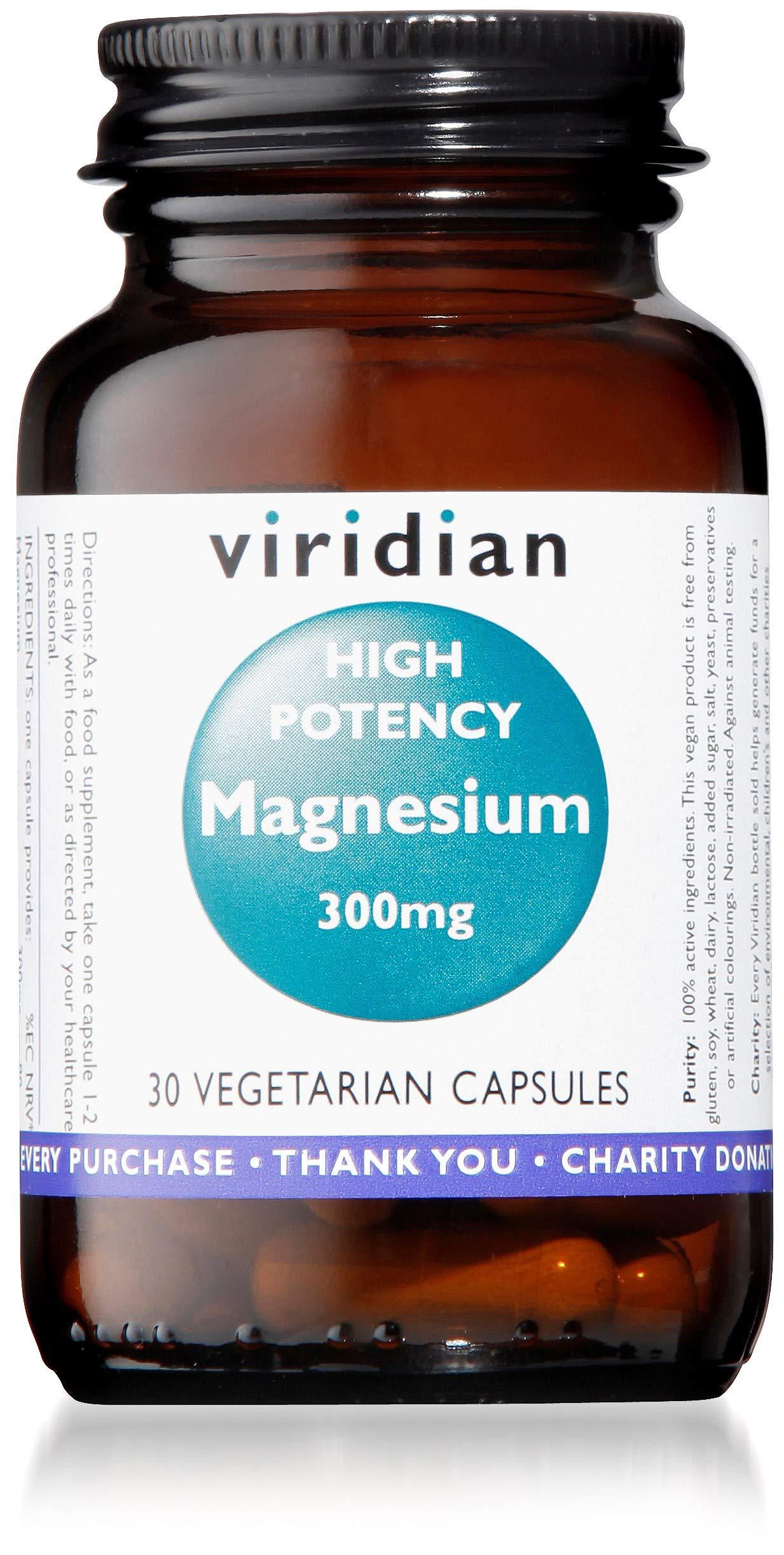 Viridian High Potency Magnesium 300mg 30 Vegetarian Capsules