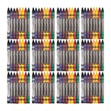 Amazon Basics Crayons - 8 Assorted Colors, 12-Pack