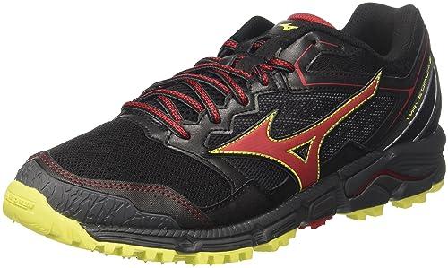 Wave Daichi 3, Zapatillas de Running para Hombre, Multicolor (Black/Formulaone/Flash 59), 45 EU Mizuno