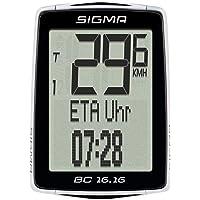 Sigma Sport Uniseks BC 16.16 Rowerowy Miernik Prędkości, Czarny