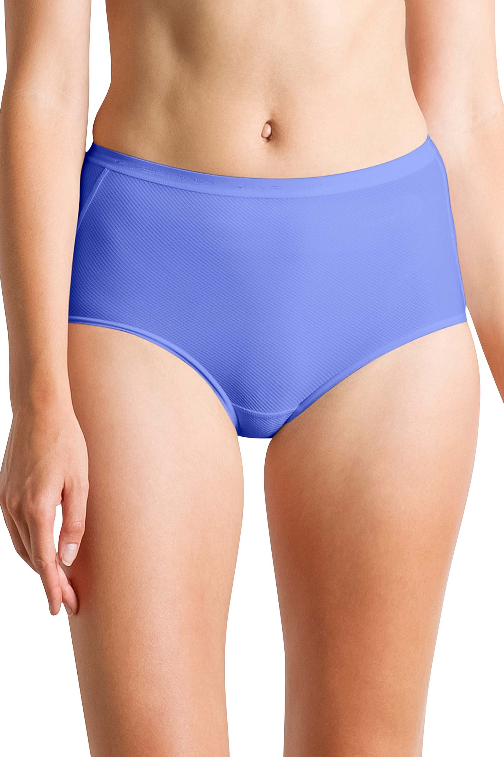 ExOfficio Women's Give-N-Go Full Cut Mesh Brief, Baja Blue, Medium