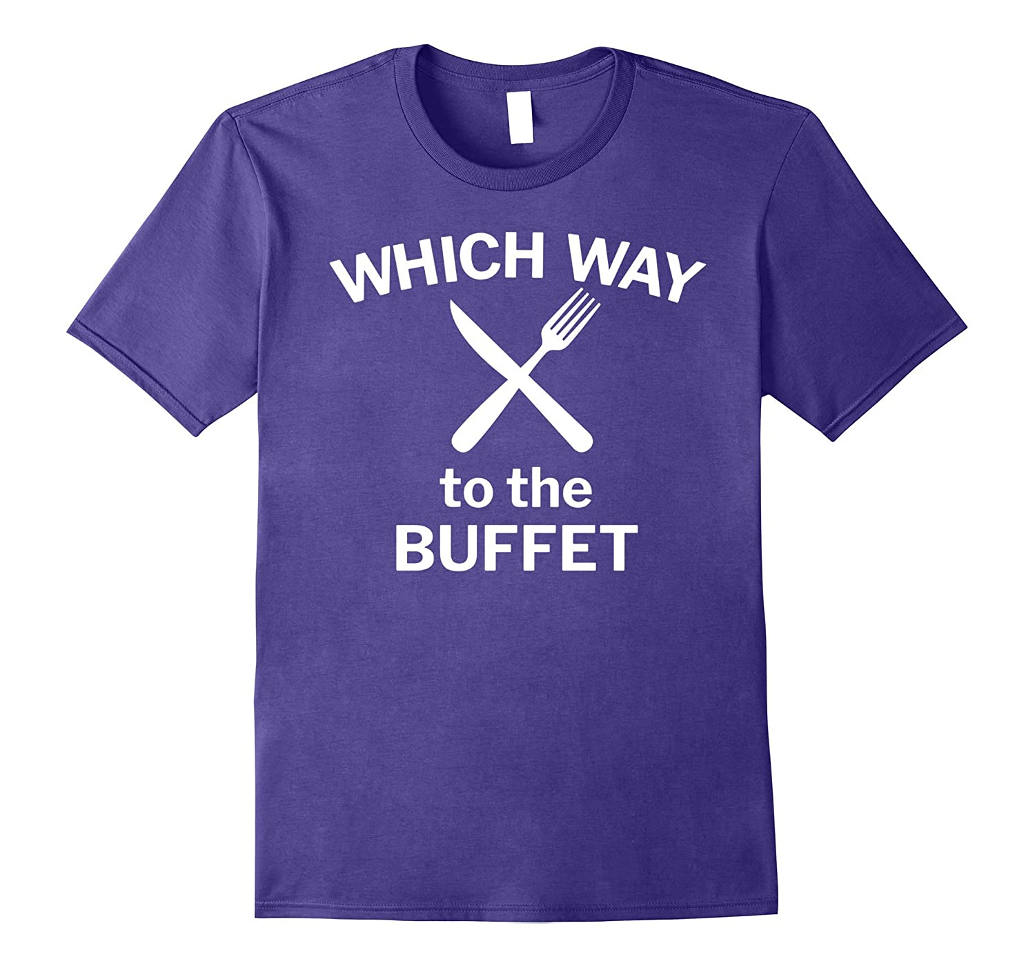 Which Way to the Buffet Funny Cruise T-Shirt for Food Lovers-FL