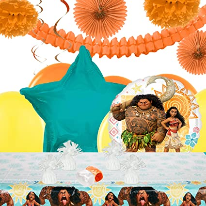 Image Unavailable Not Available For Color BirthdayExpress Disney Moana Party Decorations