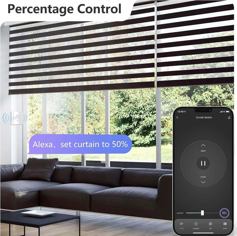 Schaltbares LED Smart Rolladen Schalter Smart Rolladen Zeitschaltuhr 【5th Generation】Maxcio Alexa Rolladenschalter mit Prozentfunktion APP Steuerbar Kompatibel mit Alexa und Google Home