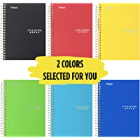 "Five Star Spiral Notebooks, 1 Subject, College Ruled Paper, 100 Sheets, 7 x 5"", Personal Size, Colors Selected For You…"