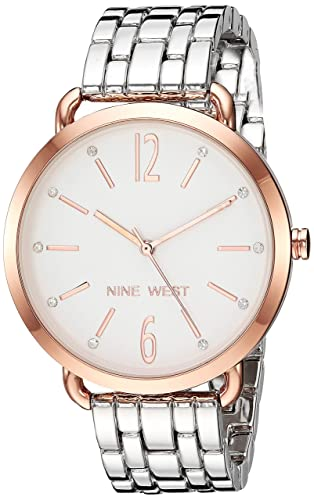 Buy Nine West Women S Nw 2151wtrt Crystal Accented Rose Gold Tone