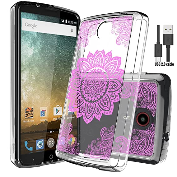 buy online 5e6bc 4c57c ZTE N817 Case,ZTE Uhura Case,ZTE Ultra Case,ZTE Quest Case With Micro USB  2.0 Cable,Wtiaw Acrylic Hard Cover With Rubber TPU Bumper Hybrid Ultra Slim  ...
