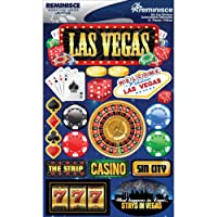 Reminisce Signature Dimensional Stickers, 4.5 by 6-Inch Sheet-Las Vegas
