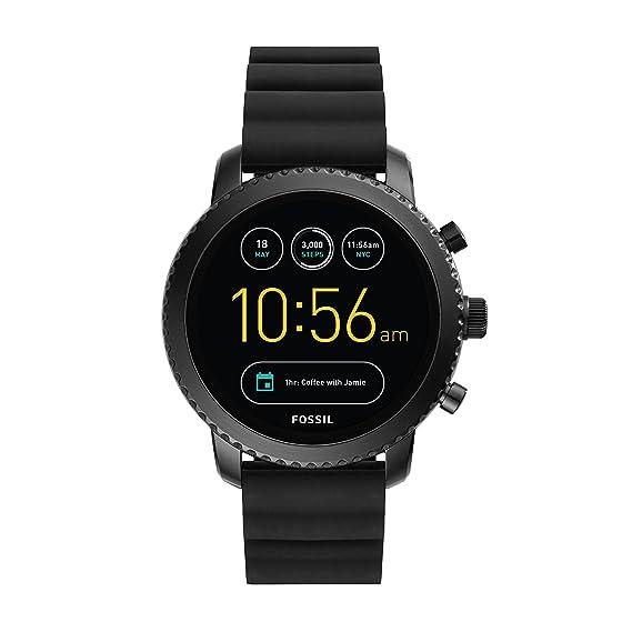 78095d489bfc Fossil Q Gen 3 Explorist Reloj inteligente de acero inoxidable y silicona  para hombre