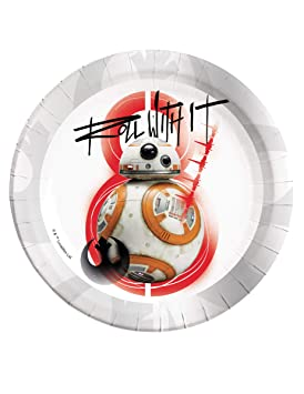 COOLMP - Juego de 12 Platos BB-8 Star Wars 8 The Last Jedi ...