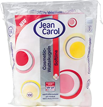 Jean Carol Softline - Bolas de algodón (100% fibras naturales, 12 ...
