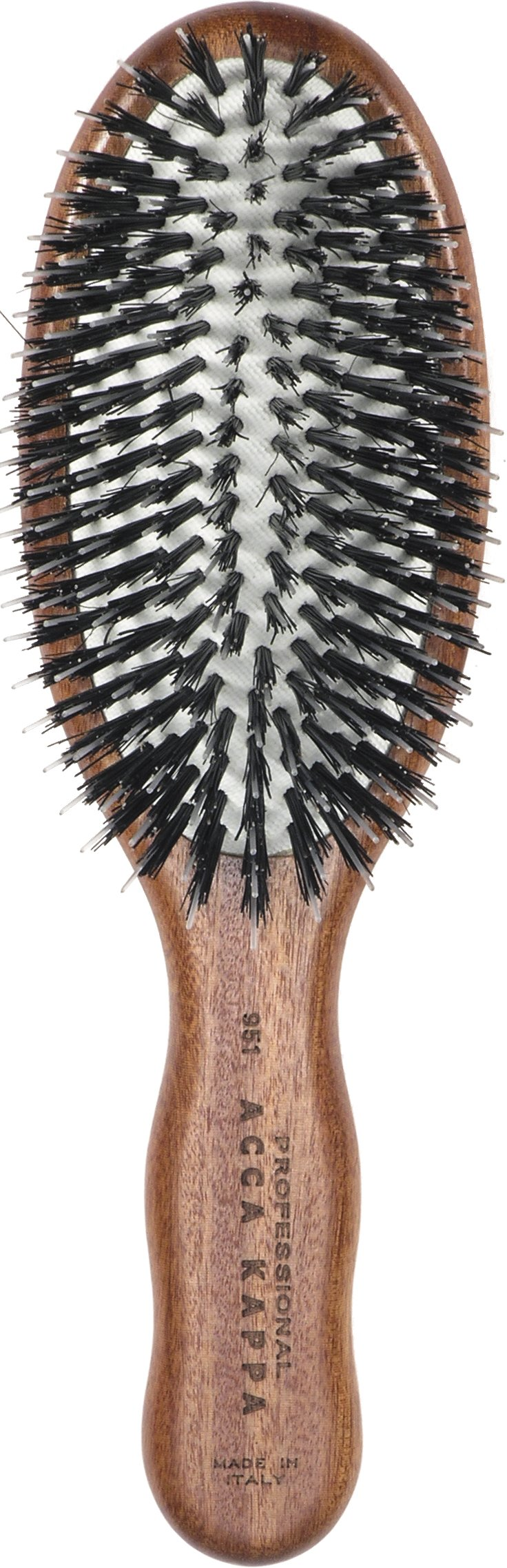 Acca Kappa Professional Pro Pneumatic Hair Brush, Purse, Boar/Nylon