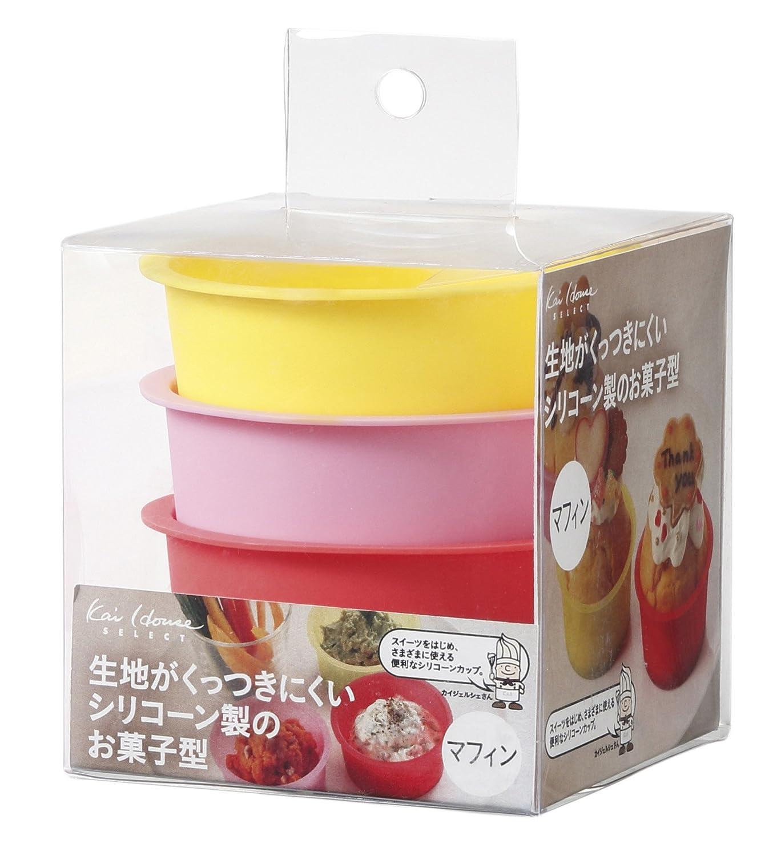 貝印 耐熱シリコン製 お菓子型 マフィン 3個セット