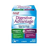 Prebiotic Fiber Plus Probiotic Tablets, Digestive Advantage (32 Count In A Box) - Helps Support The Growth Of Healthy Bacteria*, Supports Digestive & Immune Health*