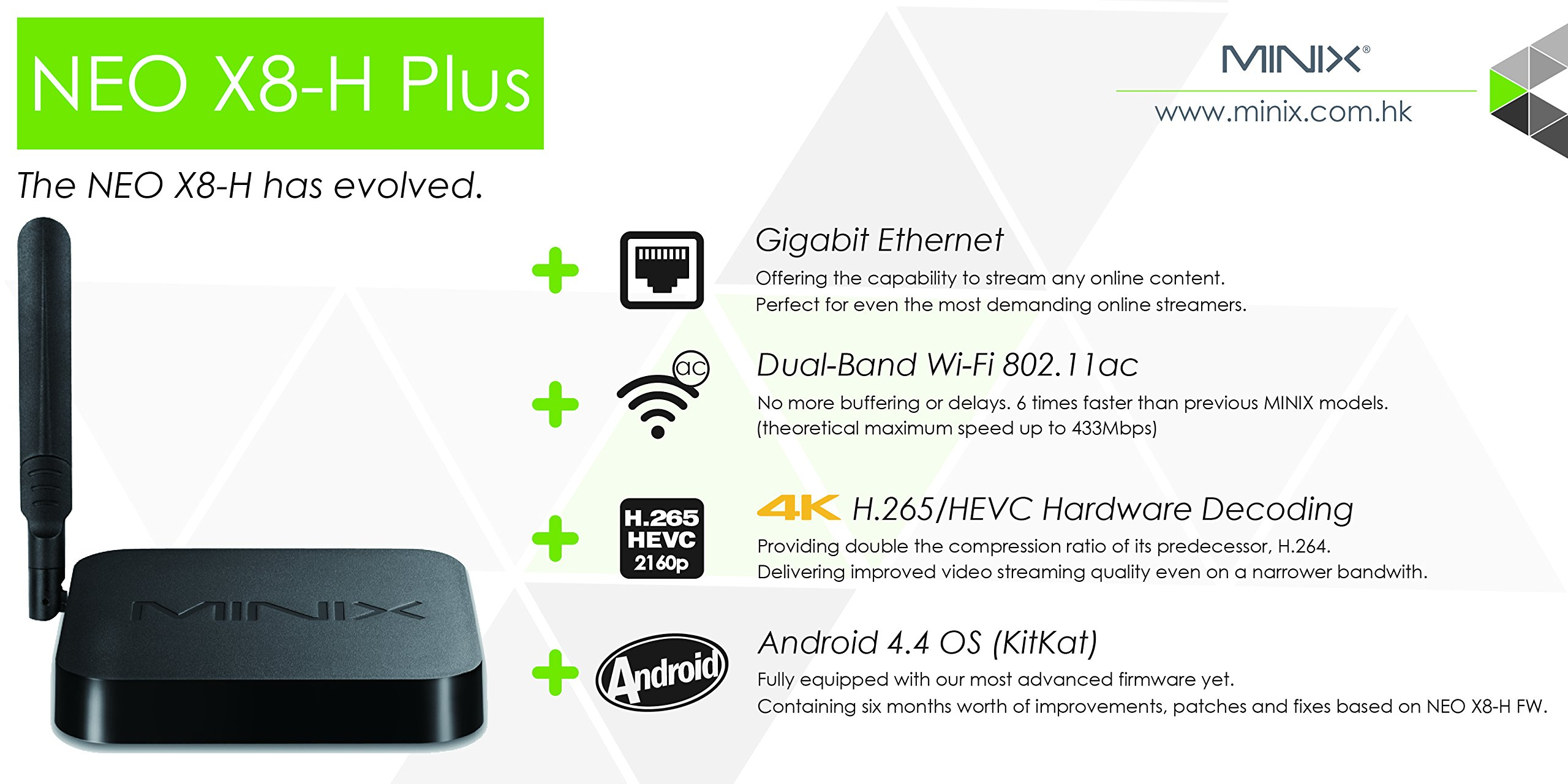 MINIX X8-H Plus Smart TV Box Mini PC & Media Streaming Player Amlogic S812-H Quad-Core Cortex-A9 Processor up to 2.0GHz Android 4.4.2 Full 2160p H.265/HEVC HDMI 2G/16G Hardware Recording by Jesurun (Image #4)