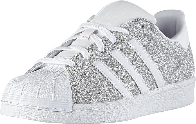 adidas Damen Superstar Sneakers, Silber (Silver Met./Silver ...
