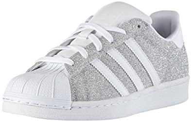 1c858484c3 adidas Originals Women's Superstar W Silver and White Sneakers - 5 ...