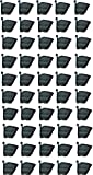 BIO BLOOMS M2 Model Vertical Wall Hanging Garden Pots (Black) - 50 Pots