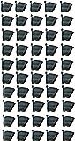 BIO BLOOMS M2 Model Vertical Wall Hanging Garden Pots (Black) - 50 Pots