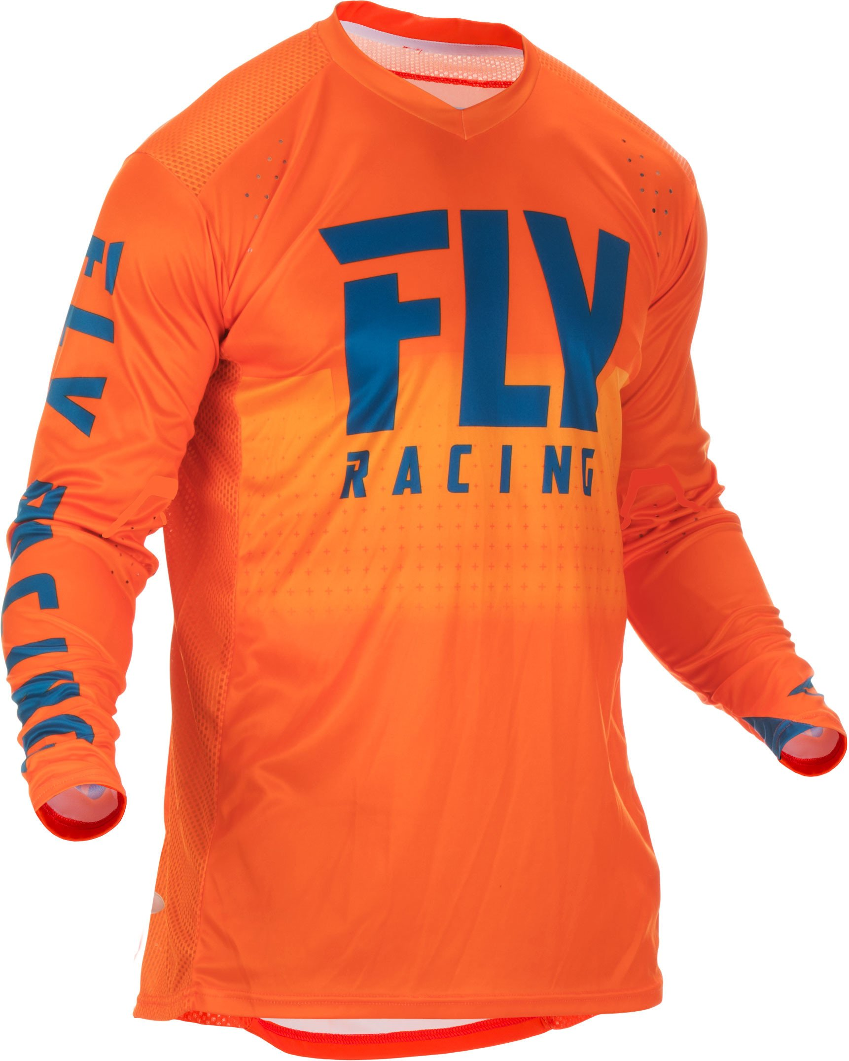 Fly Racing 2019 Lite Hydrogen Jersey (SMALL) (ORANGE/NAVY)