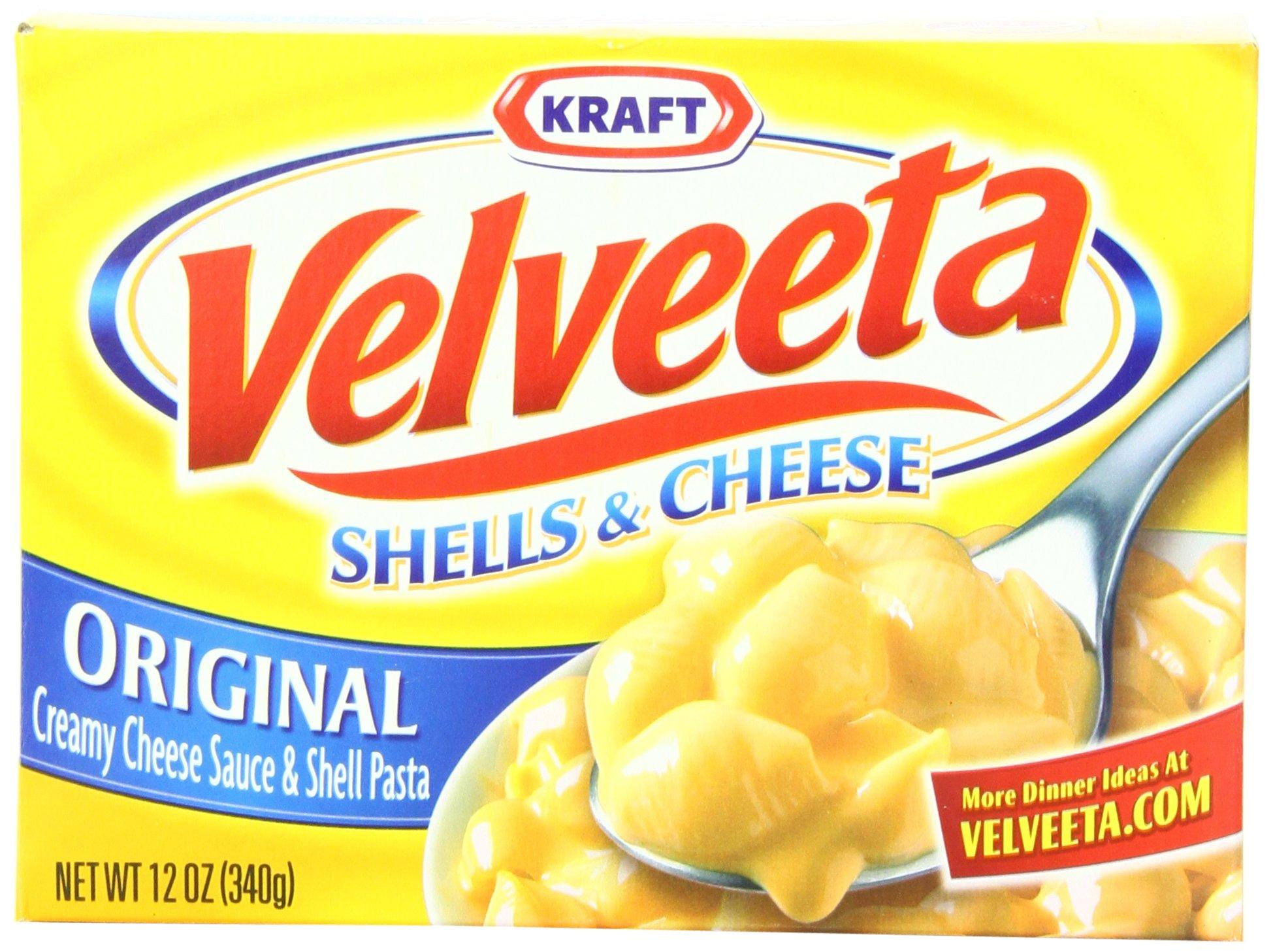 Velveeta Shells & Cheese Dinner, 12-Ounce Boxes (Pack of 12) by Velveeta