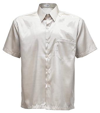 1c13f1d5b25 Men s Shirt Short Sleeve Thai Silk at Amazon Men s Clothing store