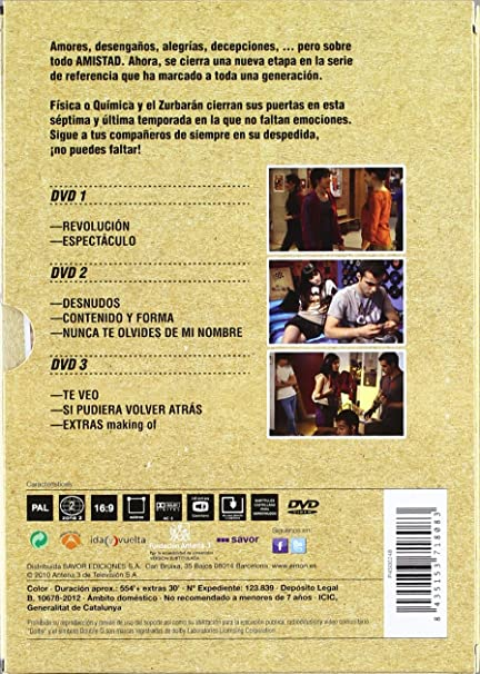 Física O Química - Temporada 7 [DVD]: Amazon.es: Ana Milan^Andrea Duro^Javier Calvo^Angy^Úrsula Corberó^Nuria Gonzalez, Javier Quintas^Carlos Navarro ...