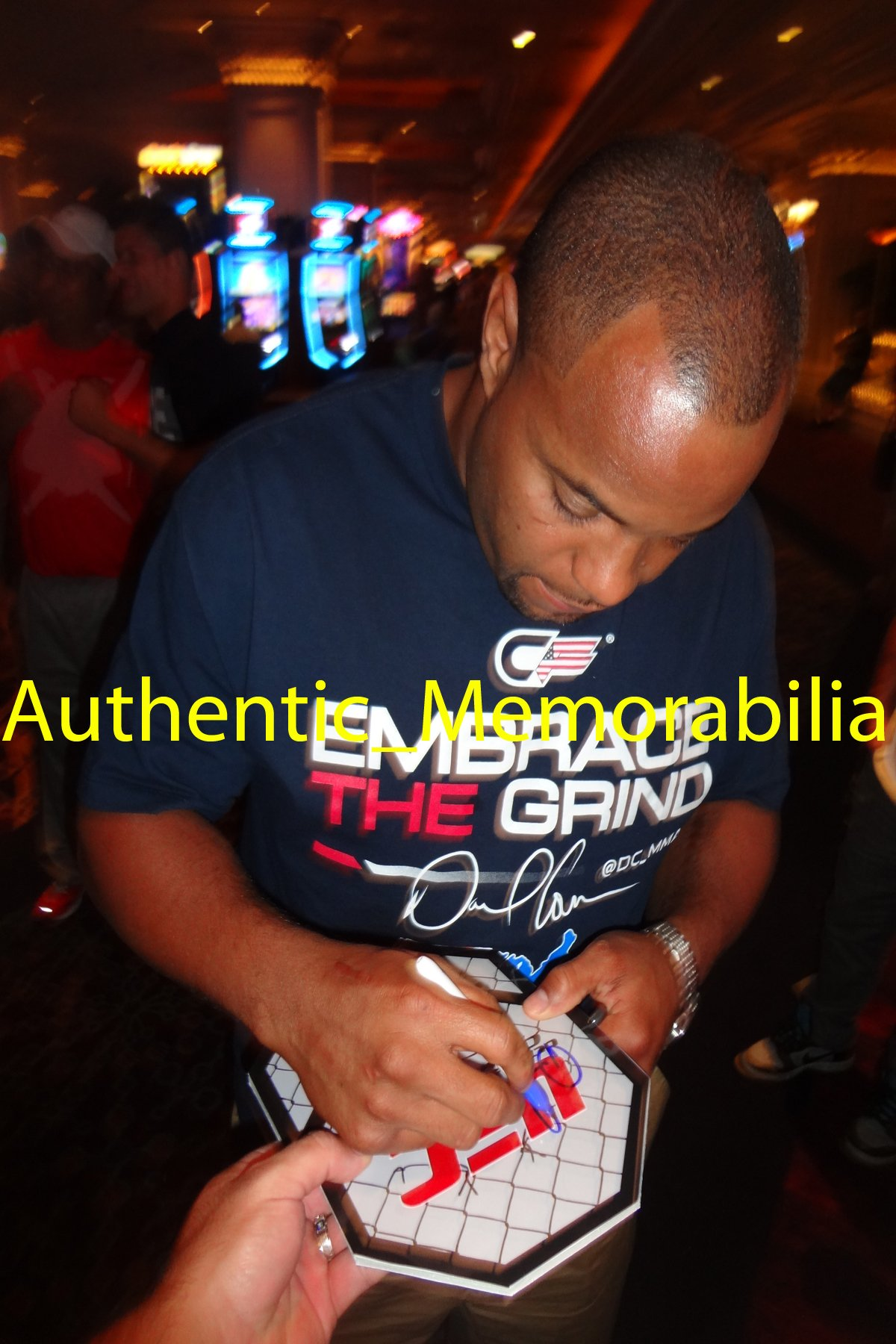 Daniel Cormier Autographed UFC 8x8 UFC Octagon W/PROOF, Picture of Daniel Signing For Us, UFC, Ultimate Fighting Championship, Strikeforce, Strikeforce Champion, Heavyweight Champion