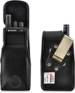 product image for Turtleback Case Made for Unication G4 G5 Voice Pager Fire Radio Pager fire Radio Black Leather Pouch Holster Case with Heavy Duty Rotating Belt Clip, Magnetic Closure Flap