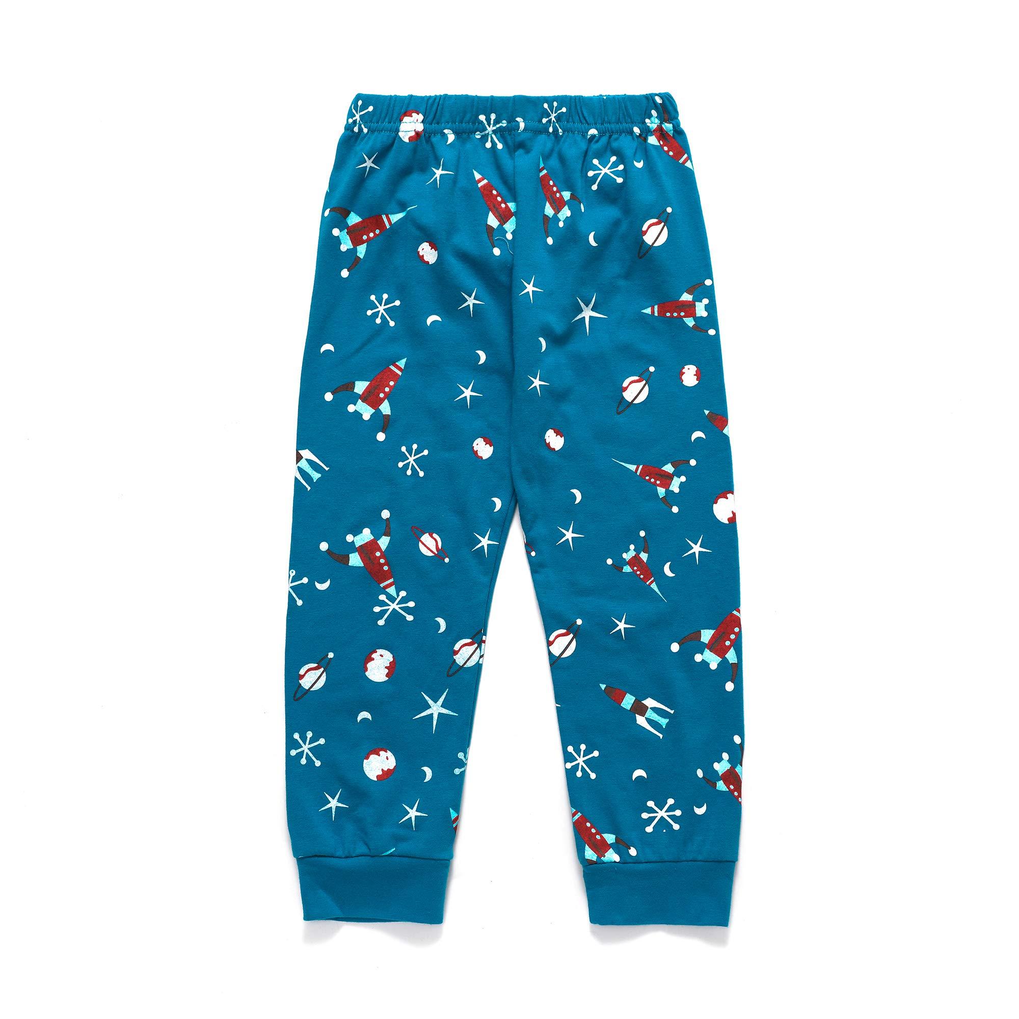 Tarkis Boys Novely Pyjamas Set Cartoon Dinosaur Nightwear Sleepwear Long Sleeve Pjs Outfit Ages 2 to 7 Years