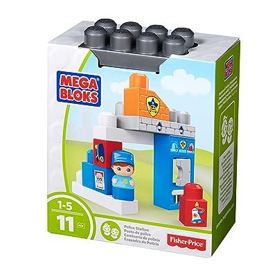 Mega Bloks Police Officer Block Buddy Building Kit: Toys & Games