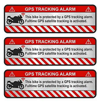 Finest-Folia 9 x GPS Bicicleta y Motocicleta Auto Alerta de Alarma Anti Robo Pegatinas