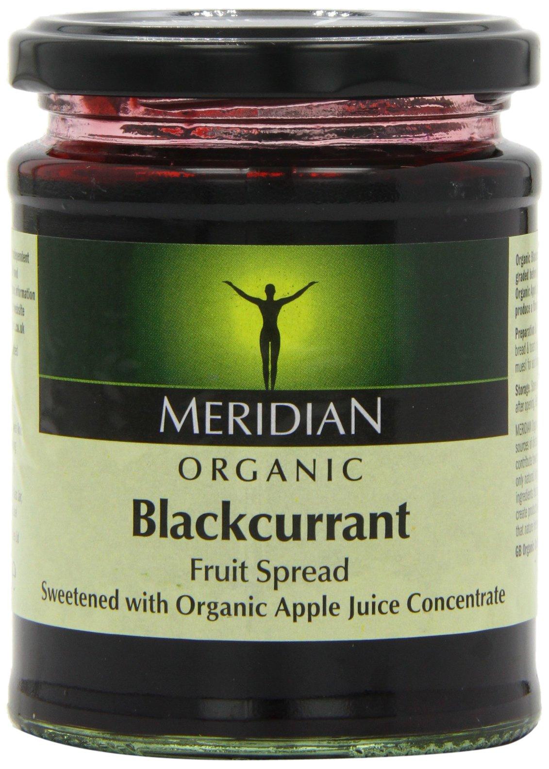 Meridian Organic Blackcurrant Fruit Spread 284 g (Pack of 6) by Meridian
