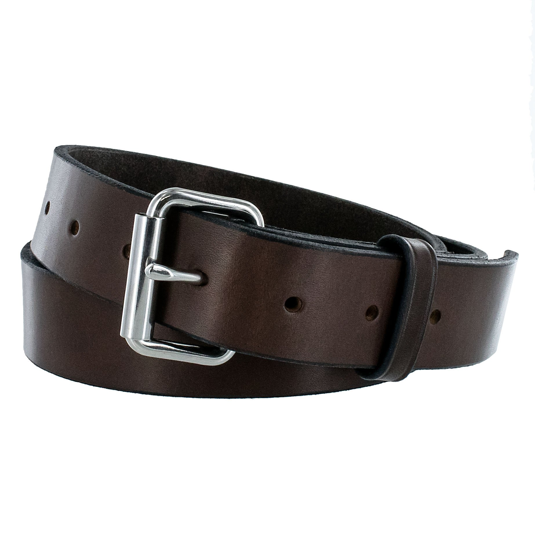 Hanks Gunner - USA Made Concealed Carry CCW Leather Gun Belt - 100 Year Warranty - 14 Ounce - Brown - 56 by Hanks Belts