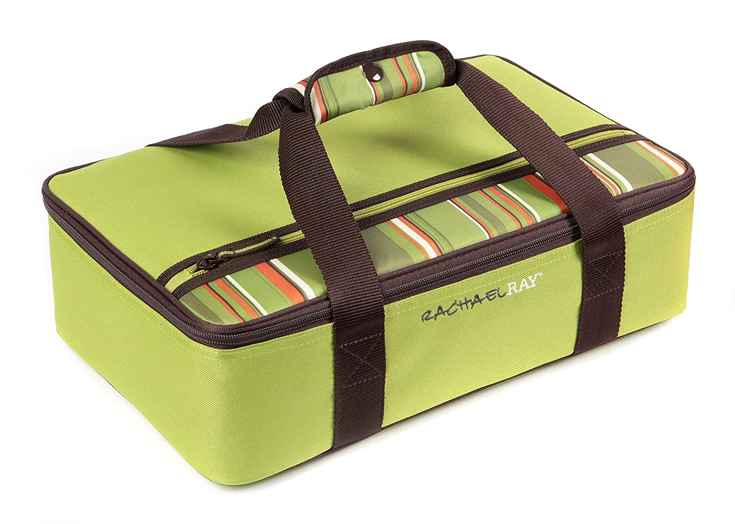 "Rachael Ray Lasagna Lugger, Insulated Casserole Carrier for Potluck Parties, Picnics, Tailgates - Fits 9""x13"" Baking Dish, Green"
