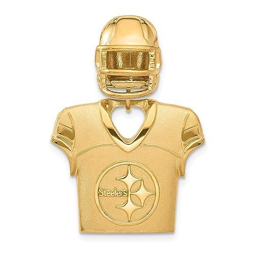 Amazon Com Kira Riley Gold Plated Pittsburgh Steelers
