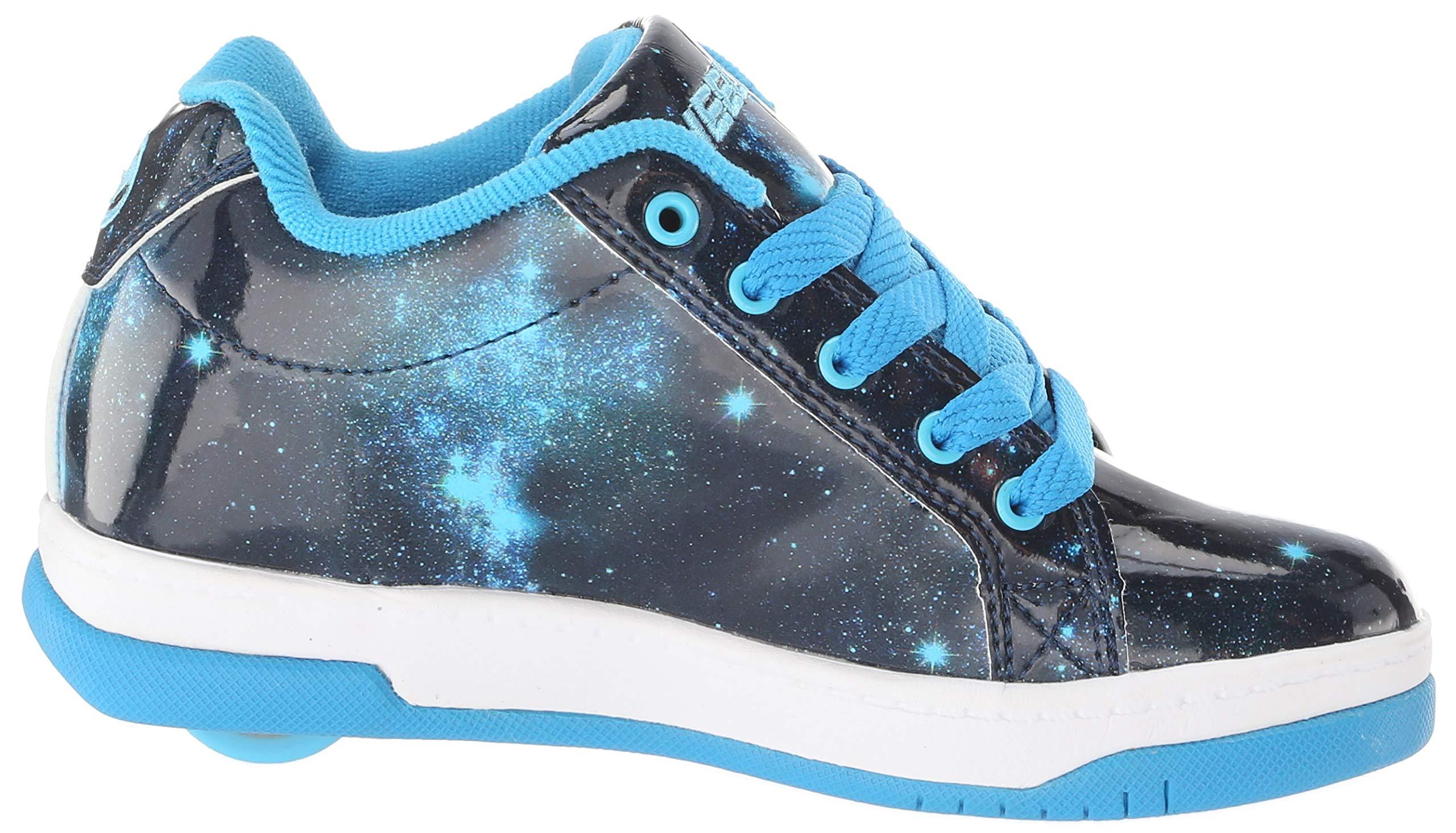 Heelys Girls' Split Tennis Shoe Blue/Galaxy 2 M US Big Kid by Heelys (Image #7)