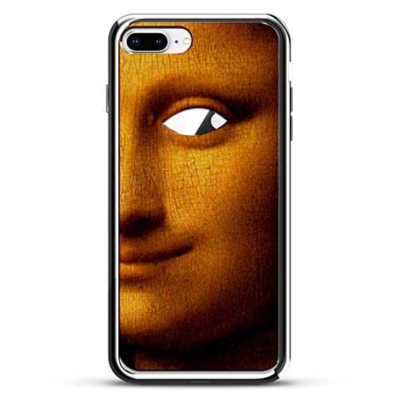 LUXENDARY MONA LISA WITH APPLE EYE. PUBLIC DOMAIN PAINTING DESIGN CHROME SERIES CASE FOR IPHONE 7 PLUS