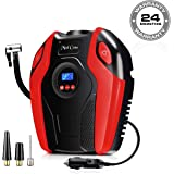 Mod Cons Tyre Inflator Car Bike Portable Air Compressor Pump | 2020 Model 12V 150PSI Digital Auto Tire Inflator with Emergency Led Light, Long Cable for Car Bike Bicycle Air Pump