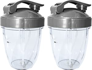 Blendin Replacement Parts, Compatible with Nutribullet 600W and 900W Blender Juicer (2 Short 2 Flip Top)