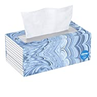 Kleenex Trusted Care Facial Tissues, 1 Flat Box, 144 Count (Pack of 1)