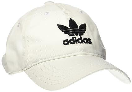 adidas Trefoil Gorra de Tenis, Hombre, (Blanco/Negro), OSFC
