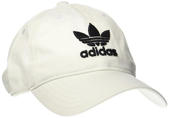 1f223bf270257 Amazon.com: adidas Originals Unisex Trefoil Classic Unisex White Cap ...