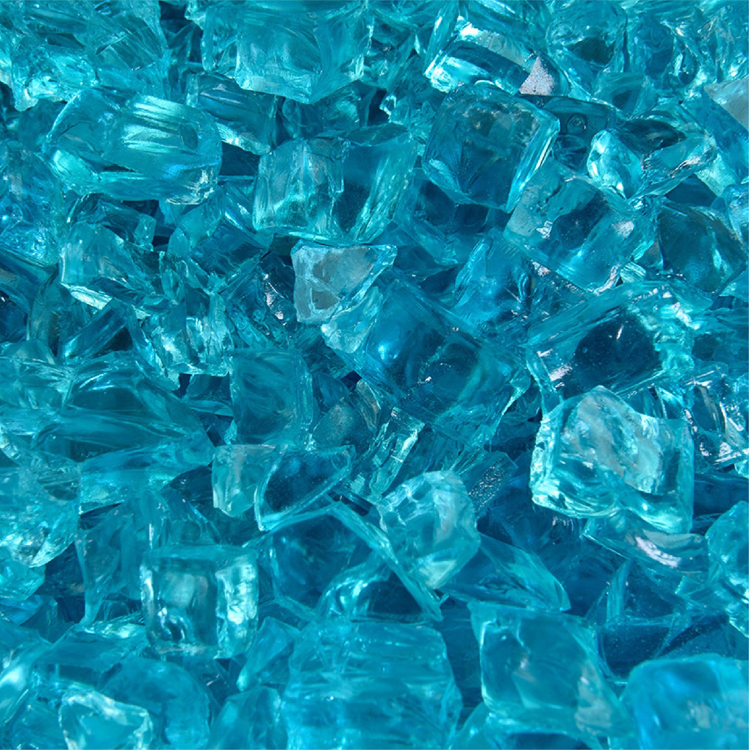 c883bdbde Tahitian Blue Azuria - Fire Glass for Indoor and Outdoor Fire Pits or  Fireplaces | 10