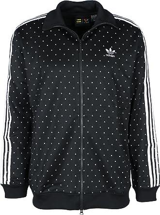 8f0b7debaf2 adidas Originals Mens Mens Pharrell Williams Human Track Jacket in  Black-White - XS: adidas Originals: Amazon.co.uk: Clothing