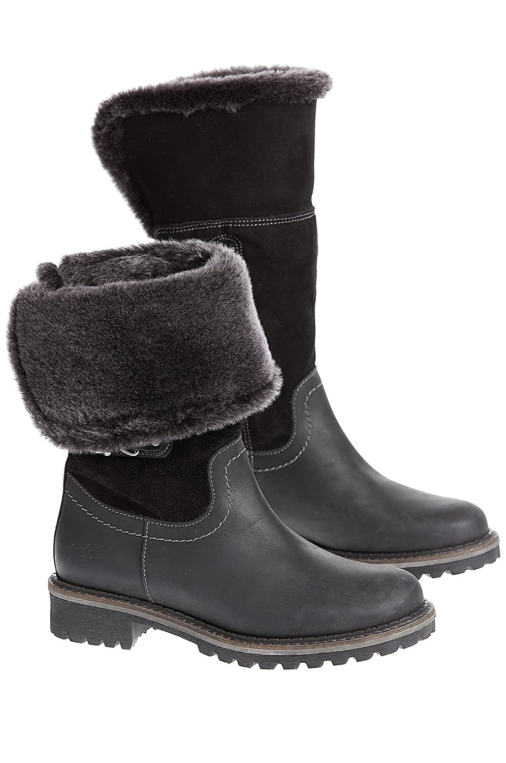 40d497fb Women's Overland Hillory II Wool-Lined Waterproof Leather Boots with  Shearling Cuffs durable modeling
